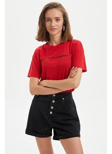 DeFacto Tişört Kırmızı